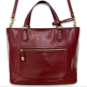 Coach Poppy Textured Patent Blaire Red Tote
